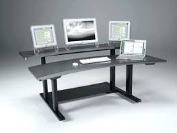 Desk Rolling Computer Adjustable Height With Regard To Elegant