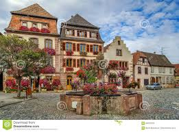 square in bergheim alsace france stock photo image 83537225