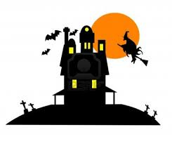 halloween ghost and haunted house background avenue clipart of a boarded up two story haunted house by dennis