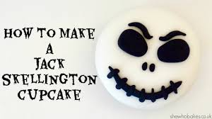 how to make a jack skellington cupcake youtube