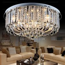 semi flush crystal ceiling lights with 8 light for living room