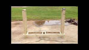 Wood Storage Rack Plans by Diy Wood Rack Under 30 Youtube
