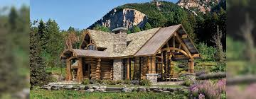 upland retreat luxury log home plan