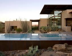 modern desert home design brown residence lake flato
