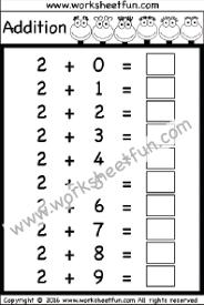 addition u2013 basic addition facts free printable worksheets