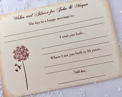 wedding wish card wedding wish cards etsy
