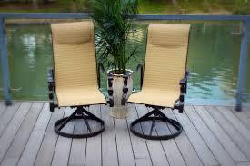 Sling Swivel Rocker Patio Chairs by Pebble Lane Living