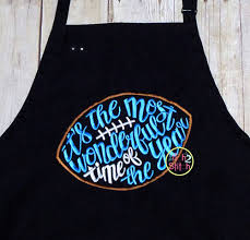 it u0027s the most wonderful time of the year football applique