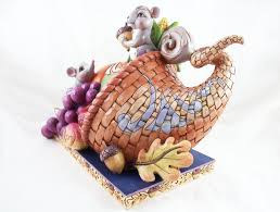 a harvest of blessings cornucopia with animals jim shore