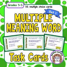 multiple meaning words task cards set 1 by rachel lynette tpt
