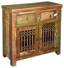 appalachian reclaimed wood u0026 wrought iron storage buffet cabinet