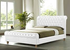Richmond Bed Frame Richmond White 4ft6 Faux Leather Bed Frame Co Uk