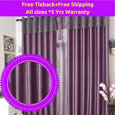 Purple Curtains Blockout Purple Grey Gray Valance Bedroom Curtain Rods Fabric