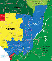 Gabon Map Congo Map Royalty Free Cliparts Vectors And Stock Illustration