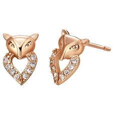 s baby earrings fox shaped earrings gold filled lovely children s baby stud