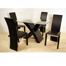 chair graceful black glass dining table and 6 chairs room tables