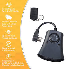 Outdoor Daily Photocell Timer 1 by Coleman Cable 59746 6 Pack 3 Outlet Outdoor Photocell Timer With