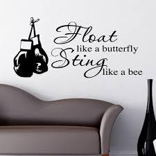 like a butterfly sting like a bee wall sticker