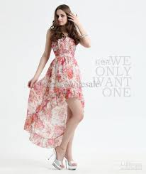 2011 new style casual dresses strapless sheath hi lo sale