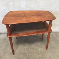 vintage mid century modern teak side table by peter hvidt
