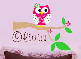 Personalized Nursery Wall Decals Accessories Owl Wall Owl Wall Decal Personalized Nursery Owl