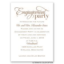 engagement party invites classic style mini engagement party invitation invitations by