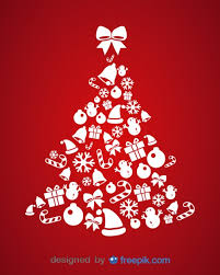 christmas tree made of christmas elements vector free download