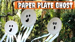 halloween craft for kids paper plate ghost youtube