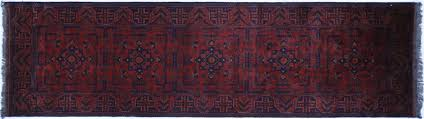 Red Tribal Rug Red U0026 Blue Tribal 3 U0027x10 U0027 Bokhara Runner Hand Knotted Wool Area Rug