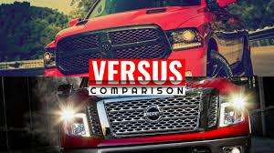 Dodge Ram Cummins V6 - 2016 titan xd diesel vs dodge ram 1500 ecodiesel youtube