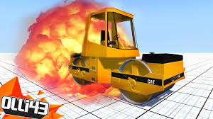captainsparklez fiat steam roller destruction beamng drive stress test youtube