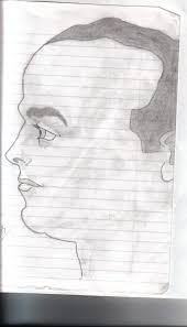 face sketch side view by gamer z on deviantart