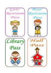 Bathroom Pass Template English Teaching Worksheets