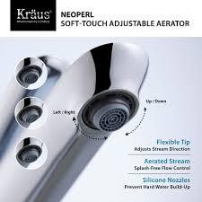 Low Flow Bathroom Faucet Kraus Fvs1820ch Single Handle Cast Spout Vessel Sink Bathroom