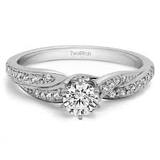 twisted shank engagement ring 0 46 carat twisted shank engagement ring
