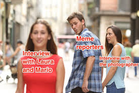 Couple Meme - distracted boyfriend meme the couple from the photo speak out