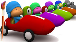 learn colors talking pocoyo cars painting learning