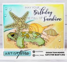 neat nook creations sea turtle tropical birthday card