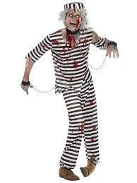 convict halloween costumes mens ladies zombie convict couples costume duo halloween fancy