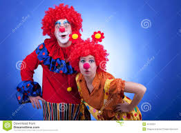 halloween clown background clown couple on blue background stock photo image 40792821