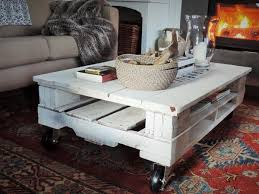 Wooden Pallet Coffee Table Pallet Coffee Table With Wheels Recycled Pallet Ideas