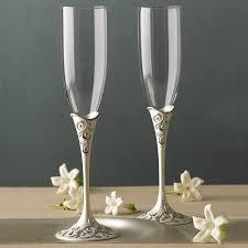 halloween wedding toasting glasses amazon com lenox opal innocence flute pair