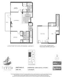 2 Bedroom Condo Floor Plans by La Vita Condos Downtown San Diego Condos