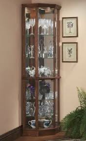 Glass Curio Cabinet With Lights Corner Glass Display Cabinet Silver Effect Future Home Ideas