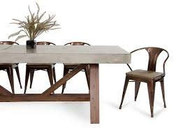 Modern Chairs And Tables Modrest Revok Modern Concrete U0026 Acacia Dining Table