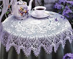 free round tablecloth patterns crochet pattern round tablecloth