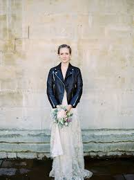 dress and jacket for wedding how to wear a leather jacket with your wedding dress