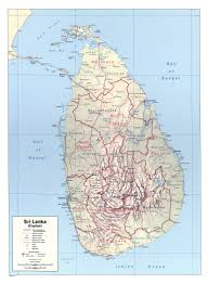 Map Of Sri Lanka Large Detailed Political And Administrative Map Of Sri Lanka With