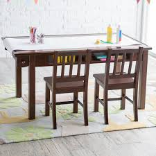Espresso Dining Room Table by Classic Playtime Espresso Deluxe Activity Table With Free Paper