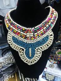 fashion statement collar necklace images Wholesale new fashion wood crystal gemstone beads handmade craft jpg